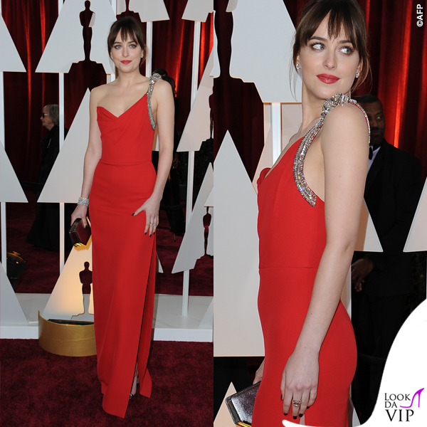 Oscar-2015-Dakota-Johnson-abito-Saint-Laurent